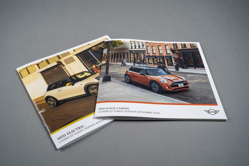 Brochures avec vernis UV sélectif brillant