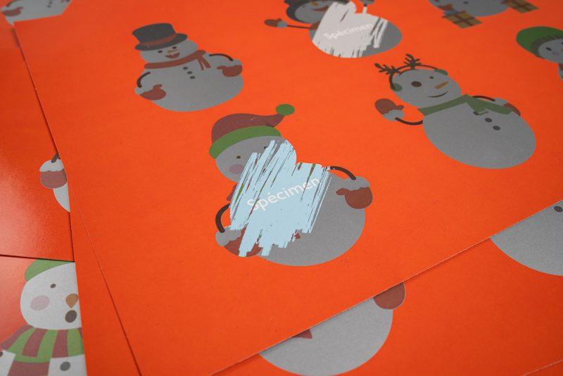 Encre grattable et imprimable en quadri, toutes formes possibles