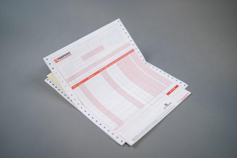 Imprimé administratif en liasse