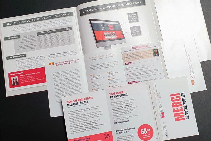 """Donner de l'impact à sa communication avec les """"Tout en un"""" : enveloppe, coupon et dépliant en un seul produit & brochures avec insertion de carte et scellage pour les routages (plis à découvert)"""